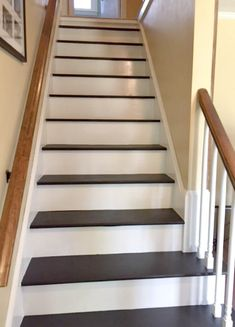 Stairs carpet to wood carpet or wood stairs carpet and wood stairs stairs carpet to wood . stairs carpet to wood Painted Wood Stairs, Painted Staircases, Spiral Staircases, Removing Carpet From Stairs, Carpet Stairs, Wall Carpet, Bedroom Carpet, Redo Stairs, Basement Stairs