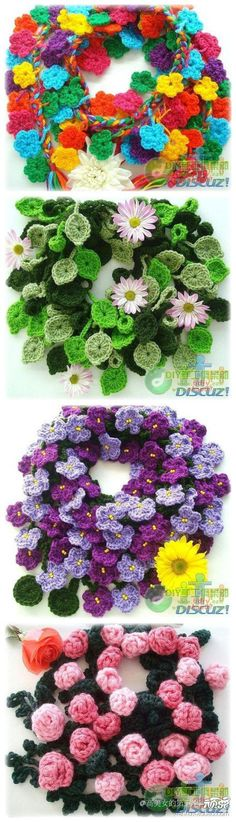 Japanese crochet site. Pics only I think. Love the wreaths though. Hmmm, getting some ideas here.