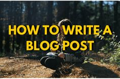 How To Write A Blog Post To Tell, About Me Blog, Told You So, Writing, Reading, Reading Books, Being A Writer