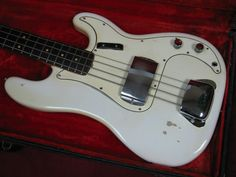 Vintage 1964 Fender Precison Bass Guitar Olympic White w/OHC | eBay