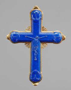 Crucifix, Louis Siries,Florence,csa 1746. Lapis lazuli,gold. Kunsthistorisches Museum,Vienna