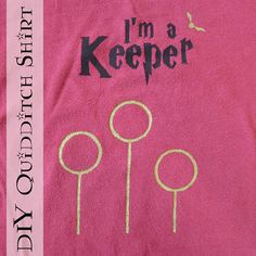 DIY Ron Weasley I'm a Keeper Shirt (Quidditch - Harry Potter) Freezer Paper Stencil