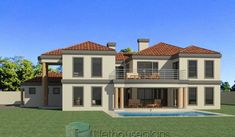Beautiful 5 Bedroom House Plans With Photos NethouseplansNethouseplans Tuscan House Plans, Modern House Floor Plans, Best House Plans, Dream House Plans, Dream Houses, 4 Bedroom House Designs, 5 Bedroom House Plans, 3 Storey House Design, Duplex House Design