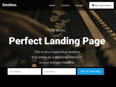 Destino is a fresh and responsive WordPress landing page theme