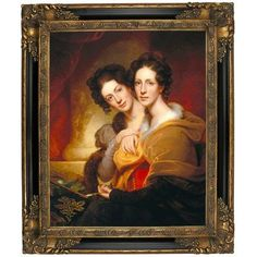 Astoria Grand 'The Sisters (Eleanor and Rosalba Peale) Framed Oil Painting Print on Canvas in Gold Format: Light Gold Framed, Size: H x Birthday Gifts For Couples, Painting Frames, Painting Prints, Canvas Fabric, Canvas Prints, Portraits From Photos, Free Canvas, Canvas Frame, Canvas Size