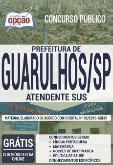 Apostila Concurso Prefeitura De Guarulhos 2019 Atendente Sus