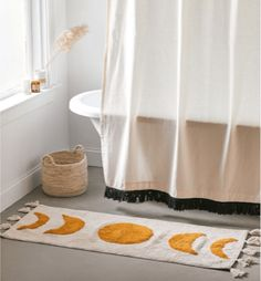 Moon decor - moon phase bath mat - 50 Cute Bath Mats That'll Freshen Up Your Bathroom and Make You Smile Cute Bath Mats, Moon Decor, Boho Aesthetic, Gifts For Your Mom, Moon Phases, Cute Designs, Make You Smile, Make It Yourself, Bright Bathrooms