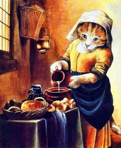 By Artist Susan Herbert série Cool Cats, Cute Cats And Dogs, Image Chat, Fancy Cats, Cat People, Vintage Cat, Cat Drawing, Cute Illustration, Animal Paintings