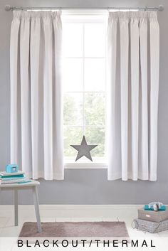 Buy Micro-Fresh Plain Dye Pencil Pleat Lined Blackout Curtains from the Next UK online shop Dye Curtains, Pleated Curtains, Floral Curtains, Lined Curtains, Blackout Curtains, White Pencil Pleat Curtains, White Curtains, Kids Bedroom, Bedroom Decor