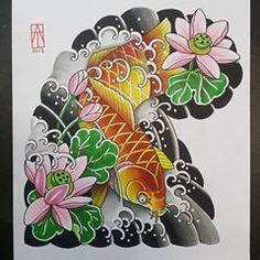 Koi :) @motorinktattooshop #japanesecollective #japaneseink #Irezumicollective #bestirezumi #darkartists #loveclassictattoos #tattoo_art_worldwide #asian_inkspiration @reclaimthedots #reclaimthedots #TAOT #topclasstattooing @tattoo.artists #sukumiz #traditionaljapanesetattoo #irezumi #tebori @japaneseink #japanesetattooart