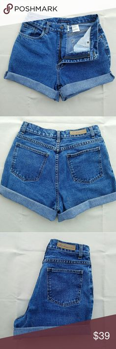 Bill Blass Vintage High Waisted Jean Shorts Created from a pair of mom jeans. Rolled twice--not attached so can be adjusted. Measurements yaken when rolled. Outer-seam 14 in Inseam 3 in Waist 15 in Please use measurements to ensure fit Vintage Shorts
