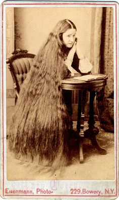 Vintage Lady with beautiful long hair - Vintage Fan Art (33711988 ...