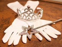 """3 Piece Bundle: White Princess Gloves with Silver Tiara and Wand by Lil Princess. $11.99. Silver tiara is 5"""" wide. Gloves are 15"""" long and fit most children ages 3 - 8 years old. Silver wand is 14.5"""" long. These are must have accessories for every princess. These are must have accessories for every princess. Gloves are 15"""" long and fit most children ages 3 - 8 years old. The silver wand is 14.5"""" long and the matching silver tiara is 5"""" wide. Great for Halloween or dress up fun."""