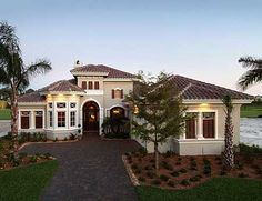 Plan W33562EB: Florida, Photo Gallery, Premium Collection, Mediterranean, Luxury, Corner Lot House Plans Home Designs