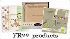 """The Daily Digi, """"daily dose of digital scrapbooking,"""" has a lot of free tutorials and some nicely designed free digital scrapbooking goodies"""