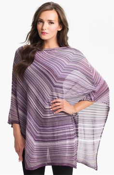 Missoni Diagonal Stripe Poncho available at #Nordstrom