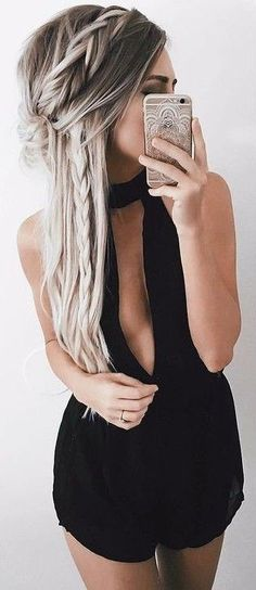 #summer #girly #outfits |  Black Romper