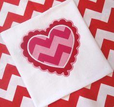 Valentine's Day Heart Shirt - Embroidered Shirt - Heart Applique Shirt - Girls or Boys Shirt - CUSTOM - 2T to Adult XL