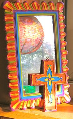 @Bobbie Jo 20 OFF SPRING SALE Bright Spring Mirror & Matching by DissyBs, $42.00