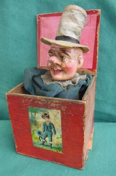 1940'S HAUNTED POSSESSED WOODEN COMPOSITION JACK IN THE BOX CREEPY TOY SCARY #Unbranded Jack In The Box, Antique Toys, Vintage Toys, Creepy Toys, Creepy Stuff, Youtube Drawing, Haunted History, Old Games, Tin Toys