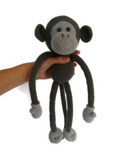 Amigurumi kit Mike The Monkey - Crochet kit toy - Stuffed toy kit