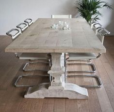 Furniture: Malvini in Antwerp: Remodelista (farmhouse table or monastery table?) or is trestle table a better name?