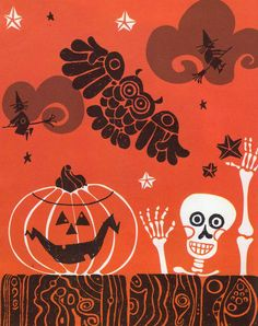 Green Says Go Ed Emberley ~ Thomas Y. Crowell, 1966 Since I've been rambling around getting reminded of Ed Emberley of late, I thought I. Halloween Eve, Halloween Goodies, Halloween Pictures, Spirit Halloween, Vintage Halloween, Happy Halloween, Halloween Designs, Halloween Ideas, Halloween Illustration