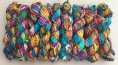 Sari Silk Ribbon Overdyed Variegated Sari Ribbon Silk