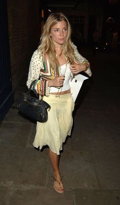Pin for Later: Everything You're Wearing Now, Sienna Miller Wore a Decade Ago Pastel Skirts and Embellished Jackets Yet another look that could have come straight from the Isabel Marant catwalk. And we thought her look was chic French chick, not boho British babe!