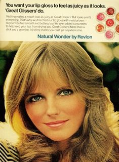Cheryl Tiegs in 1966 Sears catalog: Cheryl Tiegs in 1968 ad for Bonne Bell: Cheryl Tiegs in ad for Almay cosmetics: Cheryl Tiegs in 1972 ad for Revlon cosmetics: Cheryl Tiegs in 1977 Cover Girl ad: Cheryl Tiegs in. 1970s Makeup, Vintage Makeup Ads, Retro Makeup, Vintage Beauty, Vintage Ads, Vintage Prints, Old Advertisements, Retro Advertising, Natalia Vodianova