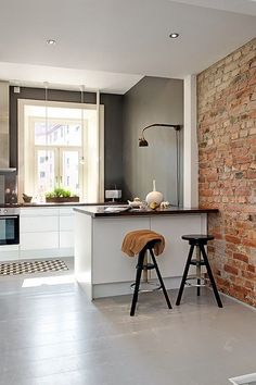 5 Mighty Tips: Split Level Kitchen Remodel Tips affordable kitchen remodel faux granite.Small Kitchen Remodel With Island studio apartment kitchen remodel.U Shaped Kitchen Remodel Home. Home Interior, Kitchen Interior, New Kitchen, Interior Architecture, Interior Decorating, Kitchen Ideas, Kitchen Brick, Kitchen Small, Kitchen Inspiration