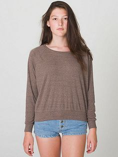 Tri-Blend Light Weight Raglan Pullover | American Apparel