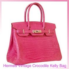 The House of Designer Handbags and Shoes: Hermes Vintage Crocodile Kelly ...1960's