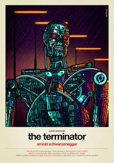 Van Orton Design's Stained-Glass Style 80′s Movie Posters