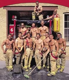 Gotta love a men in uniform. I think I need to read a romance series featuring all firefighters.