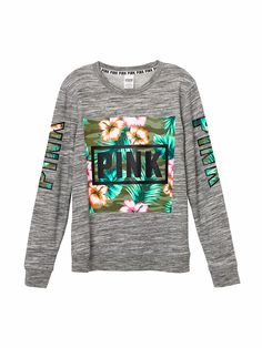 PINK Victoria's Secret Sweaters - VS PINK tropical crewneck ...