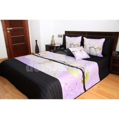 Čierne prehozy na posteľ s bielymi orchideami Bed, Furniture, Home Decor, Decoration Home, Stream Bed, Room Decor, Home Furnishings, Beds, Home Interior Design