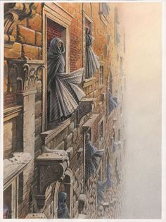 """""""Solitude des Latitudes"""" François Schuiten: """"Cover illustration made for """"Captain Courageous"""" by Gerard Manset. The work of Gerard Manset, I knew very young, continues to accompany me always with the same emotion."""""""