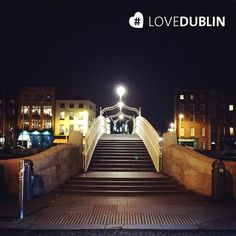 by at the Ha'penny Share your snaps with us using Dublin City, Places Ive Been, Britain, Bridge, January, Spaces, Mansions, Night, Live