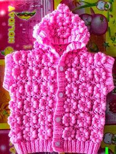 Patrón punto flor ganchillo Crochet Girls, Crochet Baby Clothes, Love Crochet, Crochet For Kids, Knit Crochet, Crochet Children, Crochet Puff Flower, Crochet Flower Patterns, Crochet Flowers