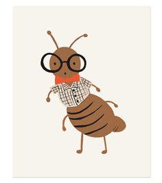 Bug Print - Ant  http://riflepaperco.com/item/Bug_Print_Ant/180/c4