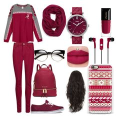 outfit #53 by jazzjohnson-1 on Polyvore featuring polyvore fashion style M&S Collection Vans MICHAEL Michael Kors Timex Casetify Echo Mizco Guerlain women's clothing women's fashion women female woman misses juniors