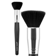 Designed for multiple uses, the Classic Flat Buffer Synthetic Brush is a staple for every makeup kit. The dense, flat top synthetic taklon bristles allow you to easily blend foundation, blush, or bronzer to the face and body. This brush may also be used to contour cheekbones, as well as buff off excess powder.