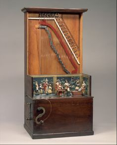 Barrel Piano (ca. 1860, Brooklyn, New York, USA). Wood, various materials. The Metropolitan Museum of Art, New York, USA