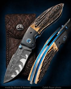 NEW PHOTO Make Knife Photography, Photo Maker, Neck Bones, Damascus Knife, Cool Knives, Custom Knives, Folding Knives, Blade, Studs