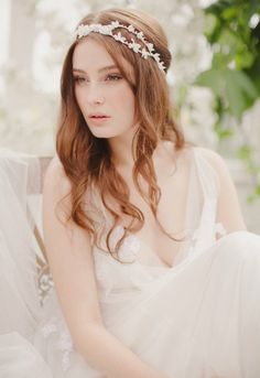 Hair Plus the Salon at West Windsor's Pick: Jannie Baltzer 2014 Bridal Headpiece Collection | Bailey.