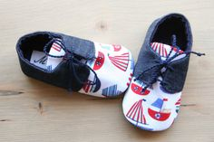 Cute Baby Shoes, Baby Boy Shoes, Baby Booties, Baby Boy Outfits, Nautical Shoes, Nautical Baby, Luna Shoes, Sailor Baby, Denim Shoes