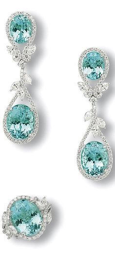 Gourgeous Paraiba tourmaline and diamond save by Antonella B. Rossi