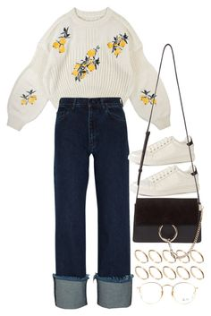 """""""Untitled #10975"""" by nikka-phillips ❤ liked on Polyvore featuring ASOS, Marques'Almeida, Chloé and Ray-Ban"""