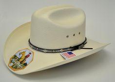 dfa3e44745ffc Larry Mahan 10X Brindle Straw Cowboy Hat-Black Band
